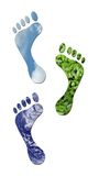 Ecological footprints Stock Photography