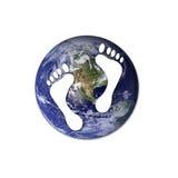 Ecological footprints Royalty Free Stock Photos