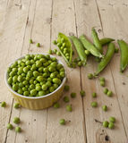 Ecological fresh green peas pods. Royalty Free Stock Photo