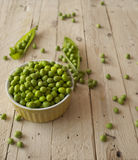 Ecological fresh green peas pods. Stock Photo
