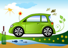 Ecological friendly car concept Royalty Free Stock Image