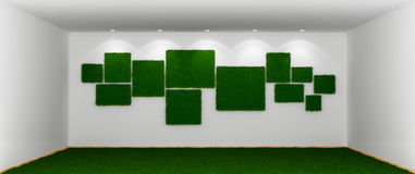 Ecological grassy room stock illustration