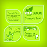 Ecological green banners. With section for text, vector illustration Royalty Free Stock Photos