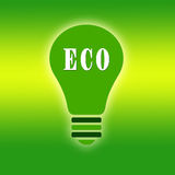 Ecological green bulb Royalty Free Stock Photography