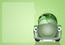Ecological green car with earth Stock Image