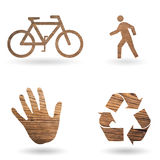 Ecological green concept draft Stock Images