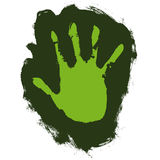 Ecological hand (vector) Stock Photography