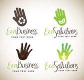 Ecological hands Stock Images