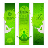 Ecological harmony concept banners Royalty Free Stock Photos