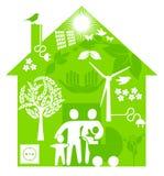 Ecological home. Green home development concept vector illustration