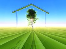 Ecological home Stock Photo