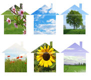 Ecological homes Royalty Free Stock Images
