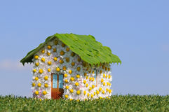 Ecological house. Concept of an ecological house Stock Image