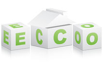 Ecological house Stock Photos