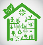 Ecological house Stock Image