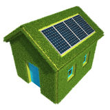 Ecological House Stock Image