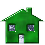 Ecological House. Environmentally friendly house isolated in white Royalty Free Stock Photo