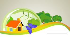 Ecological house Stock Images
