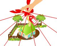 Ecological house, cdr vector Stock Photo