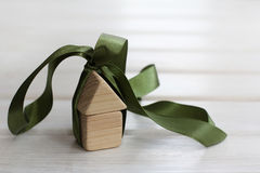 Ecological house in a gift Royalty Free Stock Photo