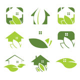 ecological house icon Stock Images