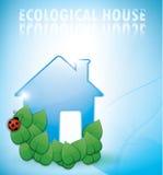 Ecological house illustration Royalty Free Stock Images