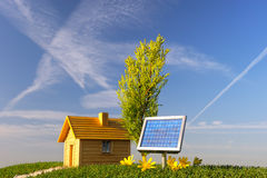 Ecological house three Stock Photo