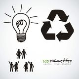 Ecological icon Royalty Free Stock Photos