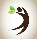 Ecological icon Stock Images