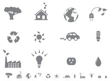 Ecological icon set Stock Image