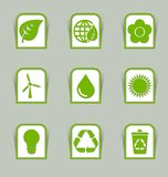 Ecological icon sticks Royalty Free Stock Photo