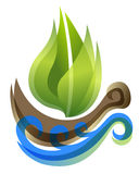 Ecological icon in thie form of the ship Stock Images