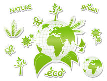Ecological icons Stock Photos