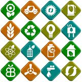 Ecological icons Stock Image