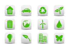 Ecological icons. Vector illustration of ecological icons .You can use it for your website, application or presentation stock illustration