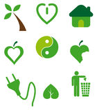 Ecological icons Royalty Free Stock Photos