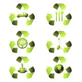 Ecological Icons Royalty Free Stock Images