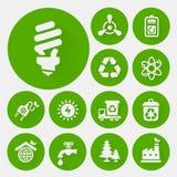 Ecological icons collection Stock Photos