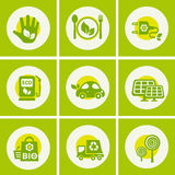 Ecological icons collection Stock Images