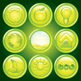Ecological Icons Stock Photography