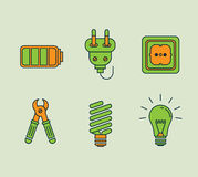 Ecological Icons Set Stock Photo