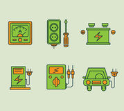 Ecological Icons Set Stock Image