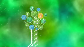 Ecological Icons Tree. Recycle, Reduce, Reuse vector illustration