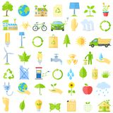 Ecological Icons. Vector illustration of collection of ecological icons Royalty Free Stock Photo