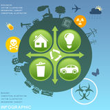 Ecological infographic design elements Royalty Free Stock Images