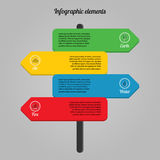 Ecological infographic elements Royalty Free Stock Photos