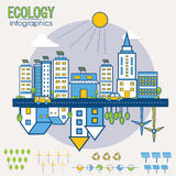 Ecological Infographic layout. Stock Photography