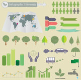 Ecological Infographics Stock Photography
