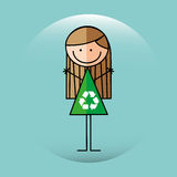Ecological kid design Royalty Free Stock Photo