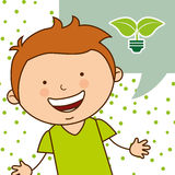 Ecological kids Stock Images